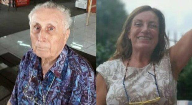 Stelvio Cerqueni, 88 anni, e la figlia Doriana, 60 anni