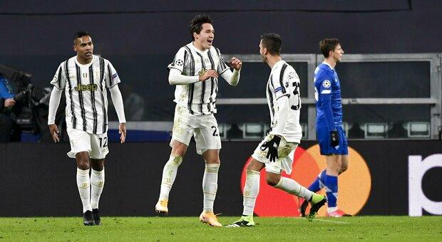 Juve-Dinamo Kiev 3-0: tutto facile con Chiesa, CR7 e Morata. Applausi per la Frappart