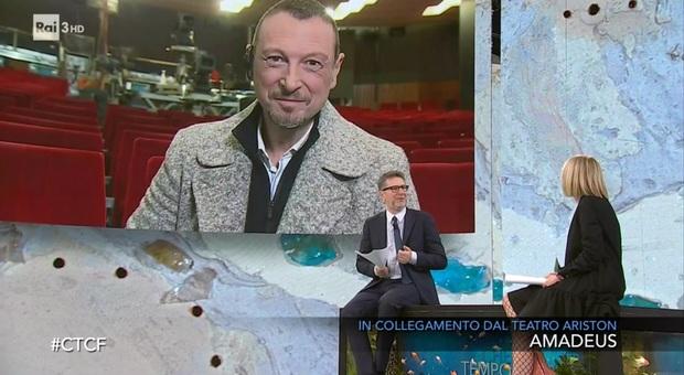Sanremo 2021, Amadeus a Che tempo che fa: «Un Festival così non si è mai visto e ci auguriamo non si veda più»
