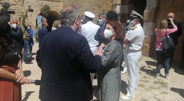 Il sindaco Riccardo Rossi con il segretario regionale del ministero dei Beni culturali, Maria Piccarreta