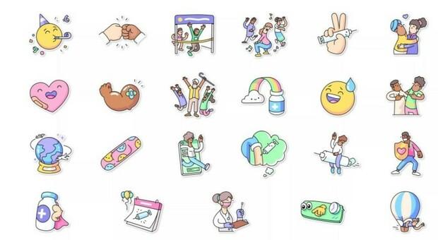 «Vaccini per tutti», la campagna di WhatsApp e dell'Oms passa per i nuovi sticker