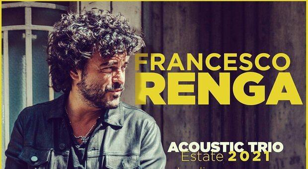 Francesco Renga, ritorno live da luglio con l'Acoustic Trio: tutte le date