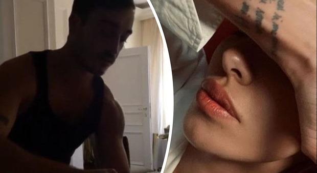 Belen Rodriguez e Antonino Spinalbanese a letto insieme, intimità e lezioni di lingua spagnola condivise con i followers