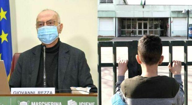 Covid, Rezza: «Chiusura scuole dolorosa ma assolutamente da considerare»