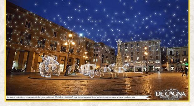 Il render delle luci che saranno realizzate dalla ditta De Cagna
