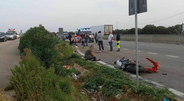 La scena dell'incidente sulla statale 379