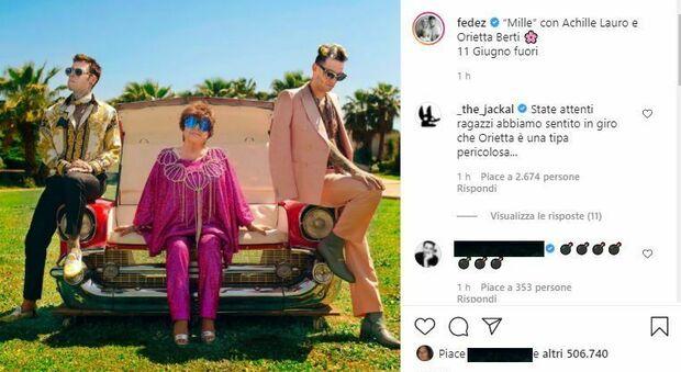 """Orietta Berti, con Fedez e Achille Lauro, valgono """"Mille"""": l'intesa nata a Sanremo diventa un singolo pop"""