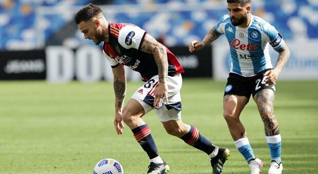 Napoli-Cagliari finisce 1-1: sblocca Osimhen al 13', poi Nandez nei minuti di recupero
