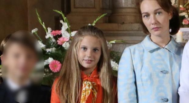V ittoria De Paoli, 9 anni, baby star della serie tivù con Di padre in figlia