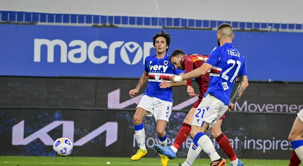 Pagelle Sampdoria-Roma: Dzeko fa cilecca, Fuzato si distrae. Verre, piede d'oro