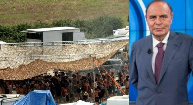 Rave party di Viterbo, la proposta di Bruno Vespa: «Usare gli idranti». E i follower applaudono