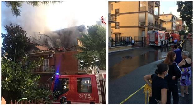 Terrore a Roma, incendio e crollo in una palazzina: tre feriti, si cercano dispersi. «Forse fuga di gas»