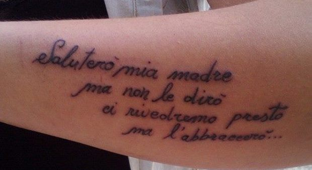 Graziana Lultimo Post Alle 2 Prima Di Tornare A Casa Quel Tattoo