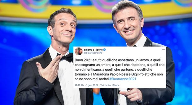 Ficarra e Picone, benvenuto 2021: «A Maradona, Paolo Rossi e Gigi Proietti che non se ne sono mai andati»