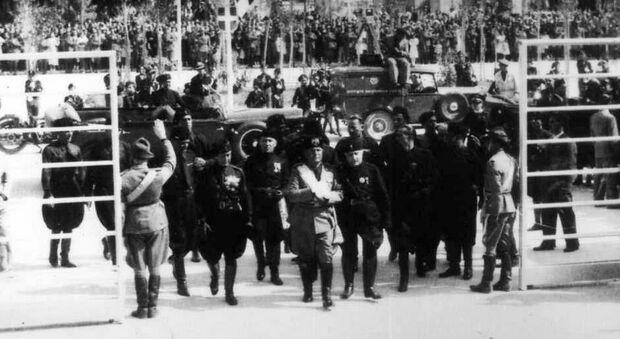 Mussolini a Lecce nel 1934