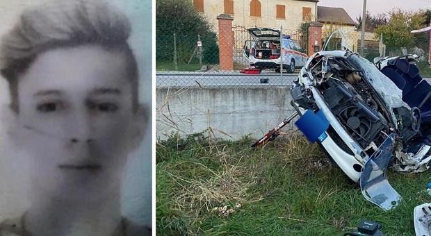 Giovane morto in un incidente oggi a Vigonza. L'auto ha travolto i contatori del gas ed è uscita di strada