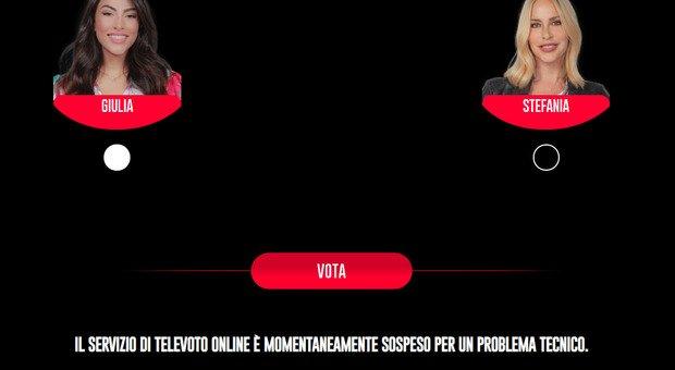 Gf Vip, sospeso il televoto fra Giulia Salemi e Stefania Orlando: «Problema tecnico». Ma i fan sono in rivolta