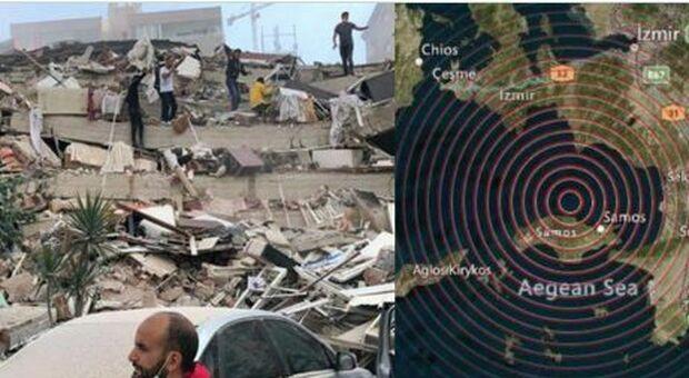 Terremoto di 7.0 sull'isola greca di Samos: a Smirne almeno 6 edifici crollati, paura ad Atene