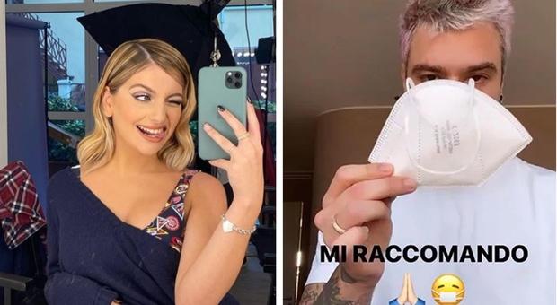 Covid, da Fedez a Marta Losito influencer schierati: «Senza mascherina sei solo un cretino»