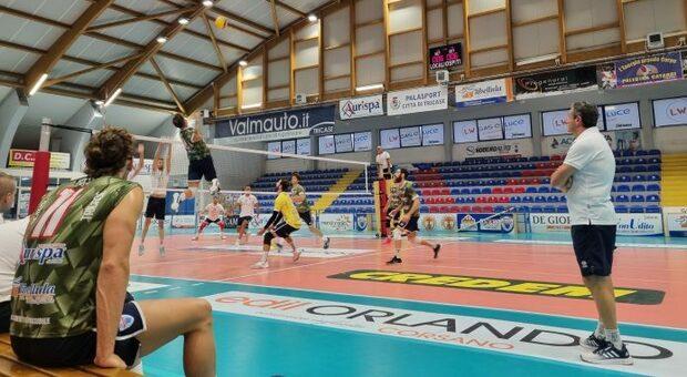 L'Aurispa Lecce al via del campionato di A3