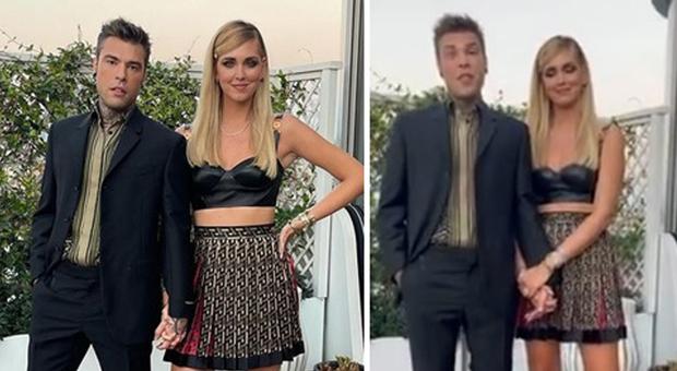 Fedez e Chiara Ferragni vestiti Versace (Instagram)