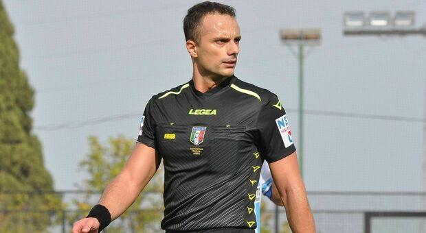 L'arbitro Gabriele Sciolti