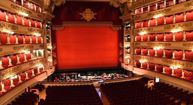 L'interno del Teatro alla Scala