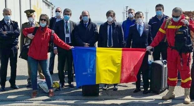 Medici e infermieri romeni arrivati in Italia