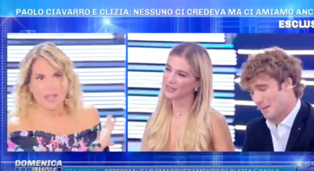 Domenica Live, Clizia Incorvaia commossa in studio. Barbara D'Urso: «Perdono te e Paolo Ciavarro»