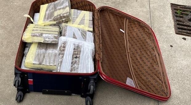 Milano, torna dalla Spagna con 23 chili di droga nella valigia