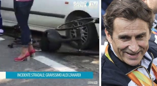 Zanardi molto grave: incidente in handbike a Siena, trasportato in ospedale in elicottero