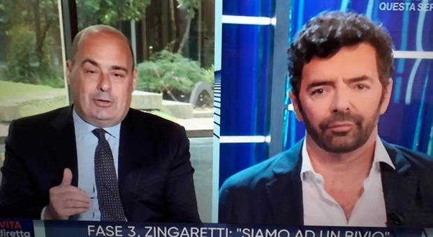 Nicola Zingaretti alla Vita in Diretta: «Le mascherine sono fondamentali? Chi non le usa è un irresponsabile»