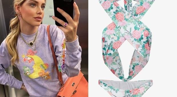 Chiara Ferragni lancia la linea di costumi, ecco il prezzo da capogiro del bikini a fiori. Fan increduli: «Non ci credo...»
