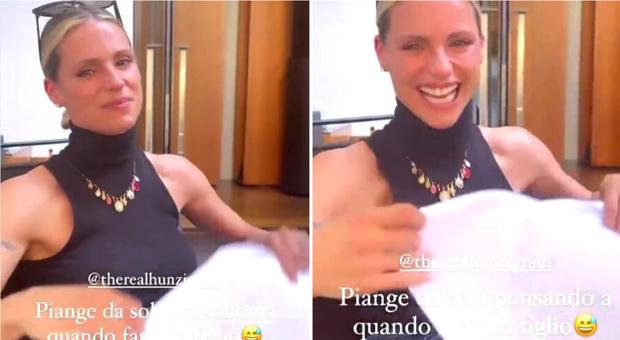 Il post di Aurora Ramazzotti con la mamma Michelle Hunziker in lacrime (Instagram)