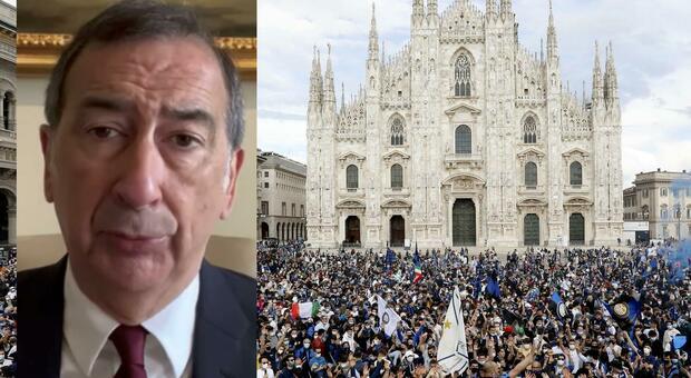 Festa Inter, il sindaco Sala: «Sarebbe successo ovunque. Tifosi allo stadio? Da Salvini un'ideona...» VIDEO
