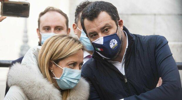 Crisi, Centrodestra al bivio: ok Lega al governissimo ma la Meloni fa muro