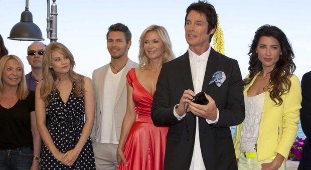 Il cast Beautiful a Fasano nel 2013 per girare alcune scene della soap