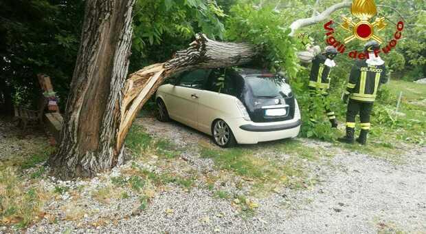 Maltempo, tromba d'aria in Trentino: «Scoperchiata una scuola». Allerta e danni in quasi tutto il Nord