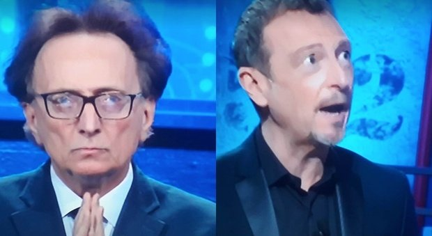 I Soliti Ignoti, Amadeus s'infuria con Amedeo Goria: «Non puoi fare domande». Fan increduli: «È nero»