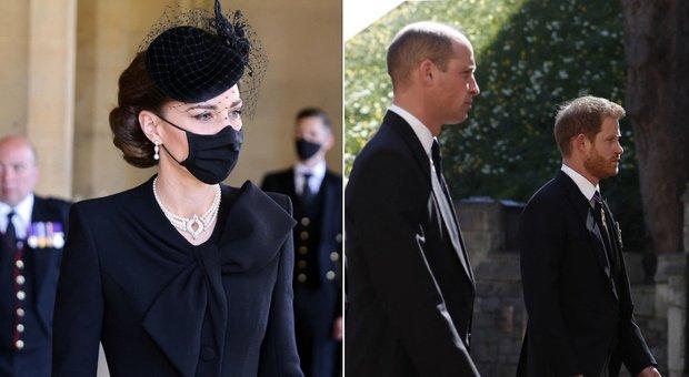 Harry e William, ai funerali di Filippo scoppia la pace: tutto merito di Kate