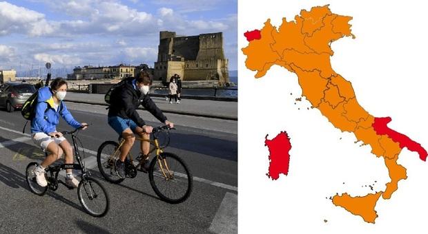 Lombardia, Lazio, Veneto e altre 8 regioni verso zona gialla. Puglia rossa, Campania in bilico