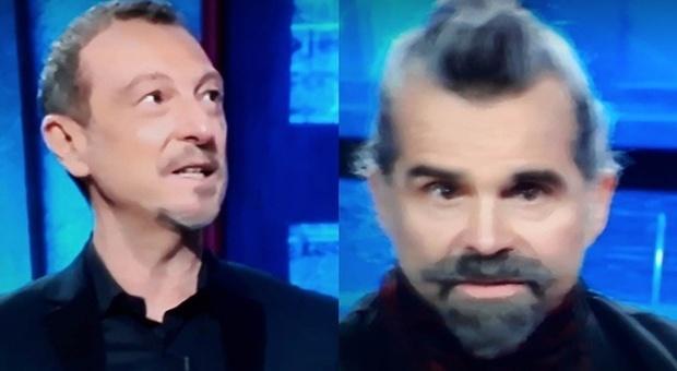 """I soliti ignoti, Piero Pelù e la risposta """"incredibile"""". Amadeus resta senza parole: «Che hai detto?»"""