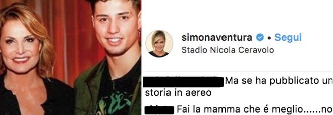 Simona Ventura, il figlio Niccolò Bettarini accoltellato: «Fai la mamma», commenti choc all'ultimo post su Instagram