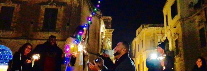 Proposta di matrimonio in piazza Duomo