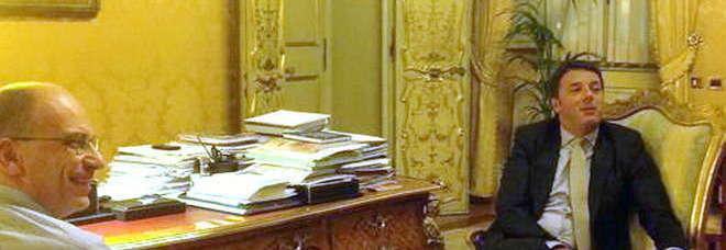 La foto su Twitter postata da Palazzo Chigi