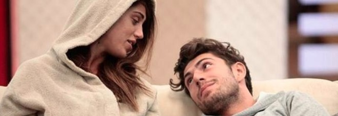 """Cecilia Rodriguez e Ignazio Moser: """"Il Grande Fratello decide sull'espulsione per atti osceni"""" (frame Mediaset)"""