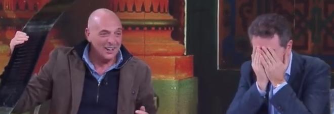"""Paolo Brosio dà un pugno in diretta e distrugge il tavolo a """"Che tempo che fa"""""""