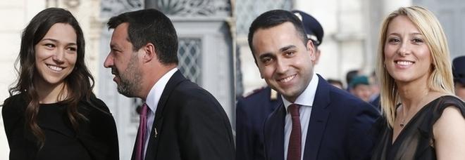 Salvini e Di Maio con Francesca e Virginia: e tra le fidanzate scatta la presentazione