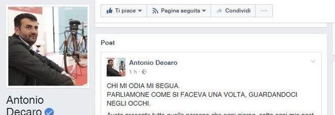Renzi loda Decaro: idea geniale per affronta gli hater della rete