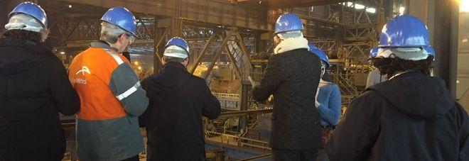 Arcelormittal, lo stabilimento siderurgico di Gand, in Belgio